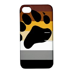 Bear Pride Flag Apple Iphone 4/4s Hardshell Case With Stand