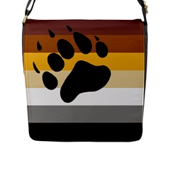 Bear Pride Flag Flap Messenger Bag (l)