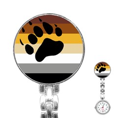 Bear Pride Flag Stainless Steel Nurses Watch
