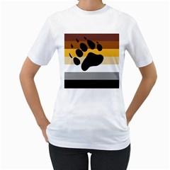 Bear Pride Flag Women s T Shirt (white)