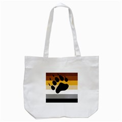 Bear Pride Flag Tote Bag (white)
