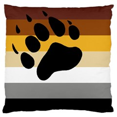Bear Pride Flag Large Flano Cushion Case (one Side)