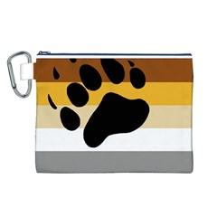 Bear Pride Flag Canvas Cosmetic Bag (l)