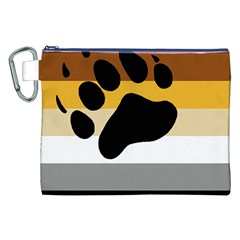 Bear Pride Flag Canvas Cosmetic Bag (xxl)