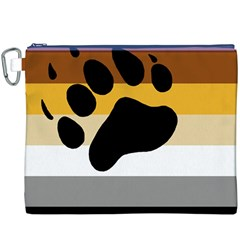 Bear Pride Flag Canvas Cosmetic Bag (xxxl)