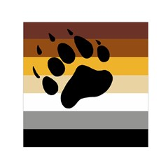 Bear Pride Flag Small Satin Scarf (square)