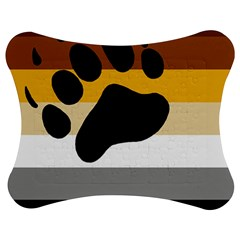 Bear Pride Flag Jigsaw Puzzle Photo Stand (bow)