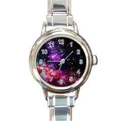 Space Colors Round Italian Charm Watch