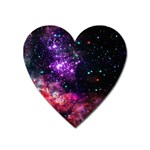 Space colors Heart Magnet Front