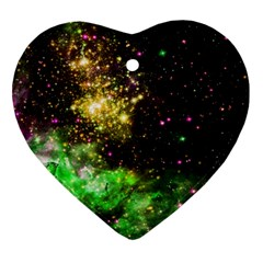 Space Colors Ornament (heart)