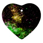 Space colors Ornament (Heart) Front