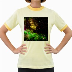 Space Colors Women s Fitted Ringer T Shirts