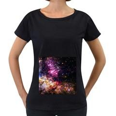 Space Colors Women s Loose Fit T Shirt (black)