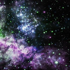 Space Colors Magic Photo Cubes