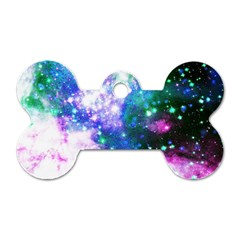 Space Colors Dog Tag Bone (one Side)
