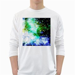 Space Colors White Long Sleeve T Shirts