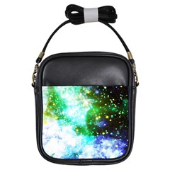 Space Colors Girls Sling Bags