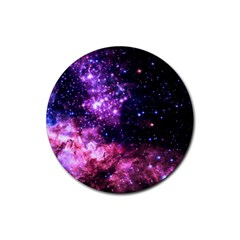 Space Colors Rubber Coaster (round)