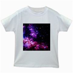 Space Colors Kids White T Shirts