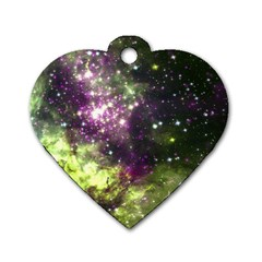 Space Colors Dog Tag Heart (two Sides)