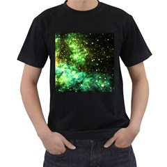 Space Colors Men s T Shirt (black) (two Sided)