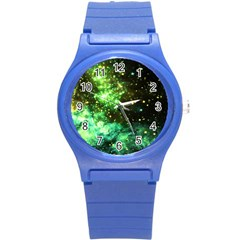 Space Colors Round Plastic Sport Watch (s)