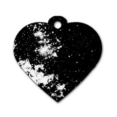 Space Colors Dog Tag Heart (one Side)