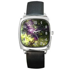 Space Colors Square Metal Watch