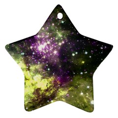 Space Colors Star Ornament (two Sides)