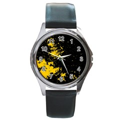Space Colors Round Metal Watch