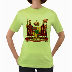 Kingdom Of Hawaii Coat Of Arms, 1795 1850 Women s Green T Shirt