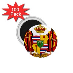 Kingdom Of Hawaii Coat Of Arms, 1795 1850 1 75  Magnets (100 Pack)