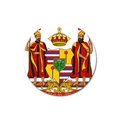 Kingdom Of Hawaii Coat Of Arms, 1795 1850 Magnet 3  (round)