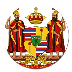 Kingdom Of Hawaii Coat Of Arms, 1795 1850 Magnet 5  (round)