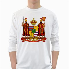Kingdom Of Hawaii Coat Of Arms, 1795 1850 White Long Sleeve T Shirts