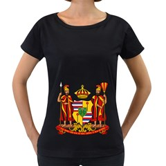Kingdom Of Hawaii Coat Of Arms, 1795 1850 Women s Loose Fit T Shirt (black)