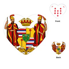 Kingdom Of Hawaii Coat Of Arms, 1795 1850 Playing Cards (heart)