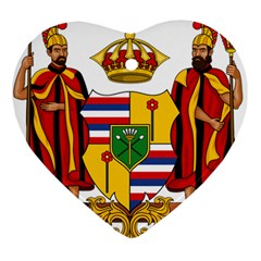 Kingdom Of Hawaii Coat Of Arms, 1795 1850 Heart Ornament (two Sides)