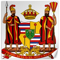 Kingdom Of Hawaii Coat Of Arms, 1795 1850 Canvas 20  X 20