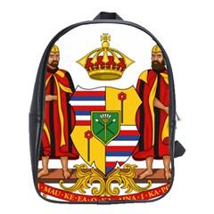 Kingdom Of Hawaii Coat Of Arms, 1795 1850 School Bag (xl)