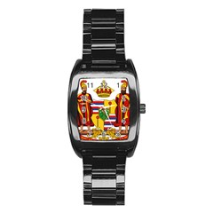 Kingdom Of Hawaii Coat Of Arms, 1795 1850 Stainless Steel Barrel Watch