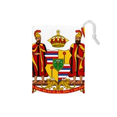Kingdom Of Hawaii Coat Of Arms, 1795 1850 Drawstring Pouches (small)