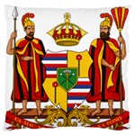 Kingdom of Hawaii Coat of Arms, 1795-1850 Standard Flano Cushion Case (Two Sides) Back