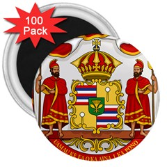 Kingdom Of Hawaii Coat Of Arms, 1850 1893 3  Magnets (100 Pack)