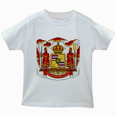 Kingdom Of Hawaii Coat Of Arms, 1850 1893 Kids White T Shirts