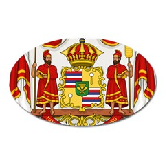 Kingdom Of Hawaii Coat Of Arms, 1850 1893 Oval Magnet