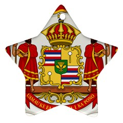 Kingdom Of Hawaii Coat Of Arms, 1850 1893 Star Ornament (two Sides)