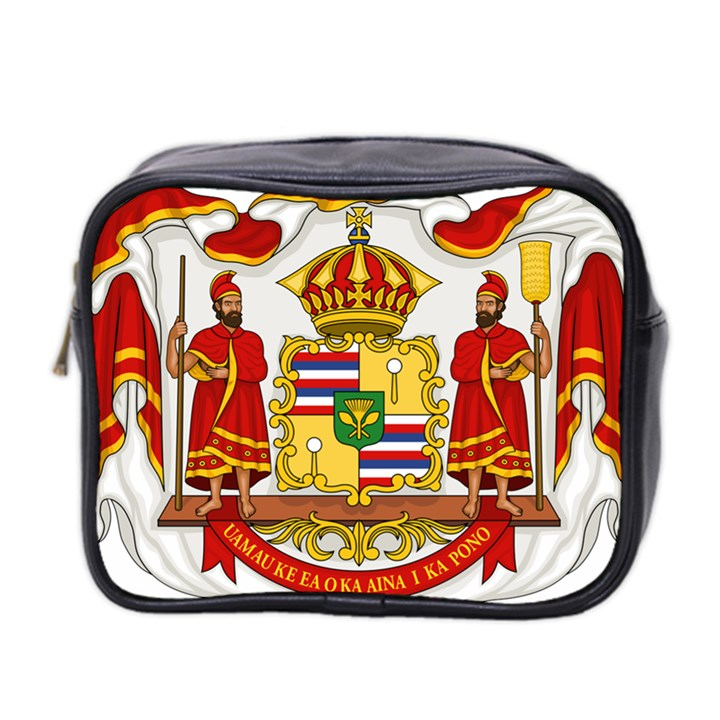 Kingdom of Hawaii Coat of Arms, 1850-1893 Mini Toiletries Bag 2-Side