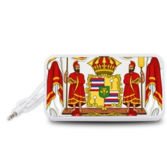 Kingdom Of Hawaii Coat Of Arms, 1850 1893 Portable Speaker (white)
