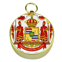 Kingdom Of Hawaii Coat Of Arms, 1850 1893 Gold Compasses